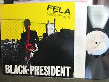 FELA Ransome KUTI BLACK PRESIDENT LP '81 AFROBEAT arista anikulapo rare funkjam!