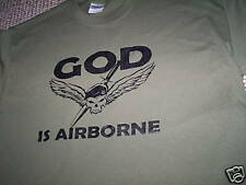 GOD IS AIRBORNE T-SHIRT NEW all sizes ARMY PARATROOP