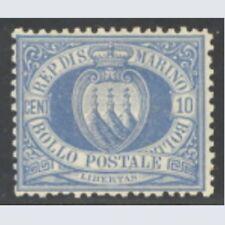 San Marino 1877 Stemma cent. 10 oltremare n. 3 Nuovo *