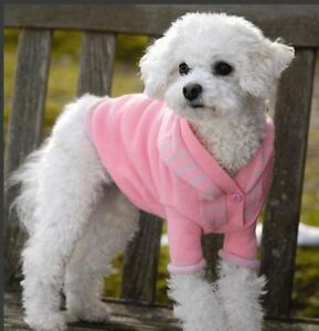 Dog Clothes Dog Hoodie Sweater BRIGHT PINK  -  LARGE