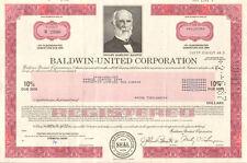 Baldwin-United Corporation > Dwight Hamilton Ohio piano stock certificate