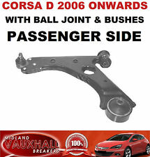 CORSA D FRONT WISHBONE LOWER SUSPENSION ARM PASSENGER NEAR SIDE SRI SXI VXR LIFE