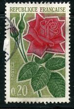 STAMP / TIMBRE FRANCE OBLITERE N° 1356 FLORE UNE ROSE