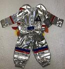 Pottery Barn Kids Light Up Astronaut Silver Halloween Costume 3T NEW