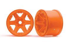 """Traxxas 17mm Splined Hex 3.8"""" Monster Truck Wheels (Orange) (2) - TRA8671A"""
