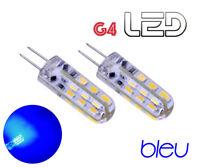 2 ampoules G4 360° 24 LED Bleu Intérieur éclairage Camping Car Bateau Caravane