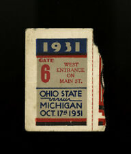 1931 OHIO STATE BUCKEYES MICHIGAN WOLVERINES FOOTBALL GAME TICKET STUB~10/17/31