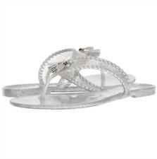 NWOB Jack Rogers Women's Sparkle Alana Jelly Silver Size 10