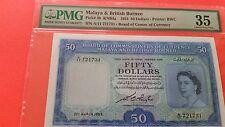 Malaya British Borneo $50 nice VF+++