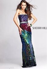Sherri Hill prom / evening dress - Peacock sequins
