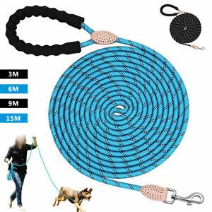 Dog Training Leash Tracking Lead Heavy Duty Rope Extra Long Nylon 10/20/30/50ft