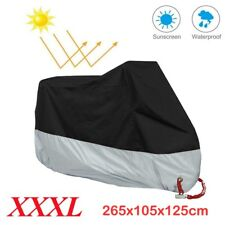 XXXL Motorcycle Waterproof Outdoor Motorbike Rain Snow Dust Vented Bike Cover UK