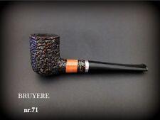 HAND MADE WOODEN TOBACCO SMOKING PIPE  BRUYERE no 71 Rustic Orange  Briar + BOX