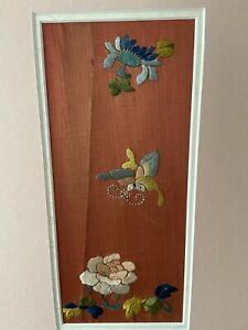 Antique Chinese panel from apron skirt embroidered, hanging, picture