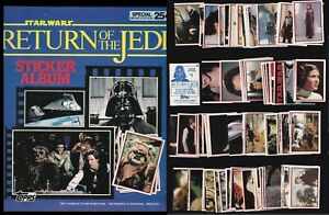 STAR WARS THE RETURN OF THE JEDI A COMPLETE TOPPS 1983 STICKER SET & EMPTY ALBUM
