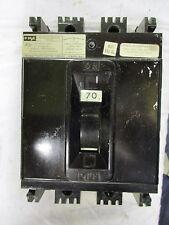 FPE NE 70 AMP 3 POLE 240 VOLT (NE234070) Circuit Breaker- RECON W/TEST REPORT