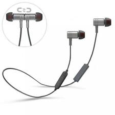 NECK-BAND HI-FI HEADSET EARBUDS MIC WIRELESS EARPHONES for CELL PHONES