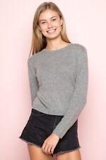 Brandy Melville heather gray crewneck wool crop morgan sweater NWT sz S/M