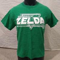 Legend of Zelda/Nintendo Gamer Mens Graphic T-Shirt-Emerald Green/White-Small