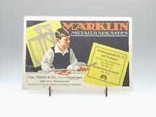 (81/434)Märklin Metallbaukasten Katalog 71 / Bauanleitung  von 1929