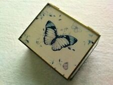 TRINKET BOX  BUTTER FLIERS . RARE AND IN LOVELY CONDITION  1970S  .