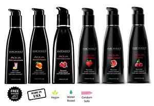 Wicked Flavored Lube Edible Oral Sex Lubricant Personal Choose Size & Flavor