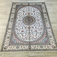 YILONG 4'x6' Handmade Silk Floral Rug Traditional Indoor Home Decor Carpet Y030C