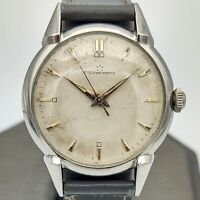 1950 ETERNA-MATIC Automatic Watch 17 Jewels Cal. 1247 Swiss Vintage Gray Leather