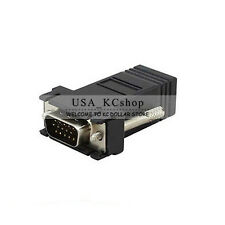 2 PC  vga to Extender adapter vga to rj45 CAT5 CAT6 adapter cable connection