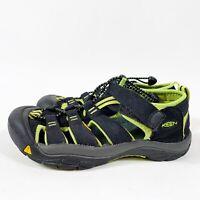 KEEN Newport Boy's Sandals Youth Size US 4 Black/Green Waterproof Washable