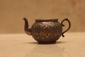 Antique Islamic  Persian isfahan  Arabic silver teapot  Art handmade 18 Century