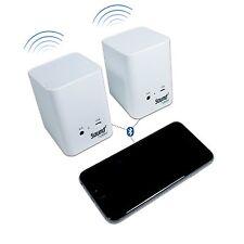 Jackco Sound² Wireless Portable Bluetooth Pair Speakers White - ZT51000W
