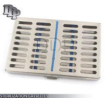 Dental Surgical Autoclave Sterilization Cassettes Racks Box For 10 Instruments
