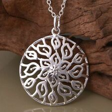 925 BEAUTIFUL MAENAD SACRED FLOWER PENDANT NECKLACE FORREST WITCH VALENTINES DAY