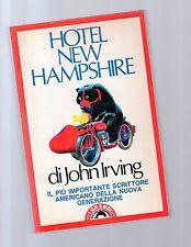 hotel new hampshire - john irving   - sottocosto sette  euro - febrvqtar