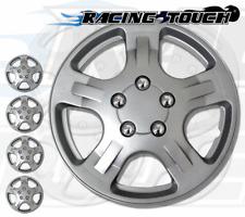 "Metallic Silver 4pcs Set #051 14"" Inches Hubcaps Hub Cap Wheel Cover Rim Skin"