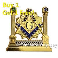 Freemasonry Solomon Temple Auto Car Emblem Masonic Lodge EA Metal Badge Sticker