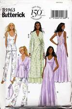 BUTTERICK SEWING PATTERN 5963 MISSES SZ 14-22 TOP, ROBE NIGHTGOWN & PYJAMA PANTS