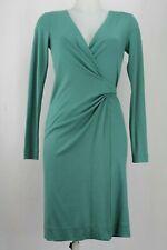 Diane Von Furstenberg Teal Wrap-Around Long Sleeved Wool Dress UK 6/ EU 34/ US 2