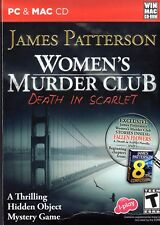 Women's Murder Club DEATH IN SCARLET Hidden Object PC & Mac Game + Novella NEW