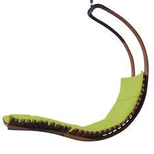 DESIGN Hängeliege Hängesessel Holz Modell NAV-SEAT-GRÜ Auflage grün ohne Gestell