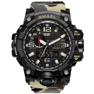 SMAEL WATCH Digital Wrist Sport Series LED for Men Waterproof 1545B KHAKI