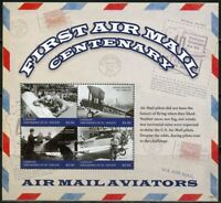 CANOUAN 2018 CENTENARY OF THE FIRST AIRMAIL SHEET MINT NH