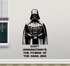 Star Wars Wall Decal Darth Vader Quote Vinyl Sticker Movie Poster Decor 142crt