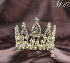 Tiara Wedding Bridal Crown Headband Mini Flower Rhinestone Crystal Prom Party