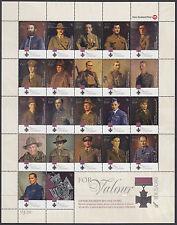 NEW ZEALAND :2011 New Zealand Victoria Cross  sheet SG3274-95 MNH