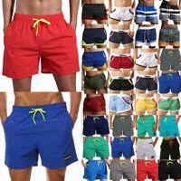 Men Champion Shorts Pants Pockets Elastic Waist Athletic Summer Swimwear Workout
