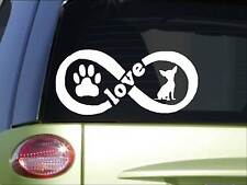 Chihuahua Infinity sticker *H395* 4 x 8.5  inch vinyl dog love decal