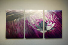 Abstract Metal Wall Art- Contemporary Modern Decor - Lotus Ethereal Purple