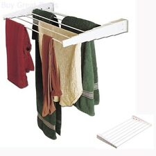 Wall Mount Clothes Drying Rack Laundry Towel Extendable Hanger Folding Hanging